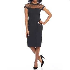 Maggy London Illusion Dress - Navy - Size 2